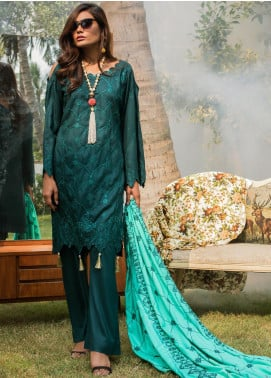 ZS Textile Embroidered Linen Unstitched 3 Piece Suit ZS19LN 6 - Winter Collection