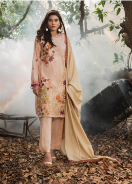 ZS Textile Embroidered Linen Unstitched 3 Piece Suit ZS19LN 8 - Winter Collection