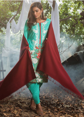 ZS Textile Embroidered Linen Unstitched 3 Piece Suit ZS19LN 9 - Winter Collection