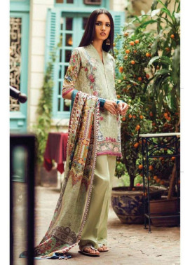 Zara Shahjahan Embroidered Lawn Unstitched 3 Piece Suit ZS17L Chambeli