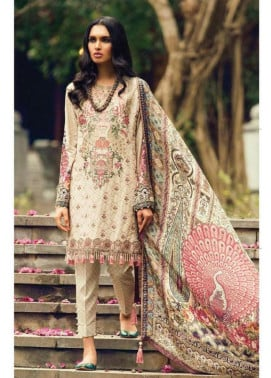 Zara Shahjahan Embroidered Lawn Unstitched 3 Piece Suit ZS17L Char Bagh