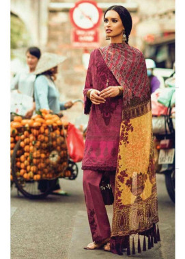 Zara Shahjahan Embroidered Lawn Unstitched 3 Piece Suit ZS17L Gul Bahar