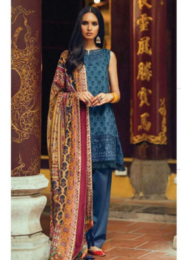 Zara Shahjahan Embroidered Lawn Unstitched 3 Piece Suit ZS17l Jashan