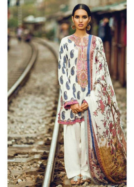 Zara Shahjahan Embroidered Lawn Unstitched 3 Piece Suit ZS17L Kashmiri
