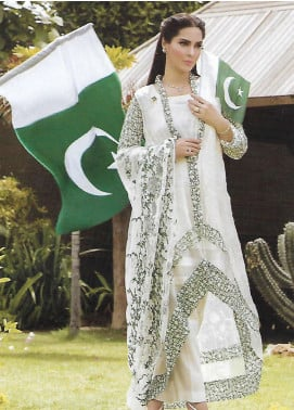 Zohan Textile Embroidered Chiffon Unstitched 3 Piece Suit ZT18I 01 - Independence Outfit
