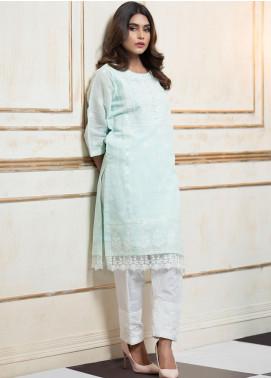 Zujaaj Embroidered Cotton Silk Stitched 2 Piece Suit ZJ-140 Powder Blue