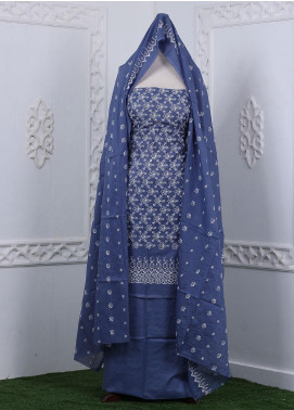 Zum Zum Embroidered Chikankari Unstitched 3 Piece Suit ZZ20CK ZmCh-01 - Summer Collection
