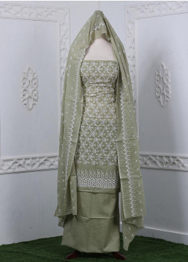 Zum Zum Embroidered Chikankari Unstitched 3 Piece Suit ZZ20CK ZmCh-02 - Summer Collection