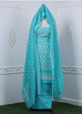 Zum Zum Embroidered Chikankari Unstitched 3 Piece Suit ZZ20CK ZmCh-03 - Summer Collection