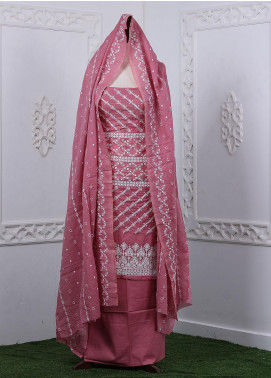 Zum Zum Embroidered Chikankari Unstitched 3 Piece Suit ZZ20CK ZmCh-06 - Summer Collection