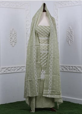 Zum Zum Embroidered Chikankari Unstitched 3 Piece Suit ZZ20CK ZmCh-07 - Summer Collection