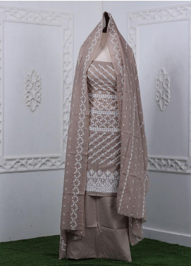 Zum Zum Embroidered Chikankari Unstitched 3 Piece Suit ZZ20CK ZmCh-08 - Summer Collection