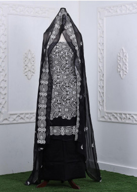 Zum Zum Embroidered Chikankari Unstitched 3 Piece Suit ZZ20CK ZmCh-15 - Summer Collection