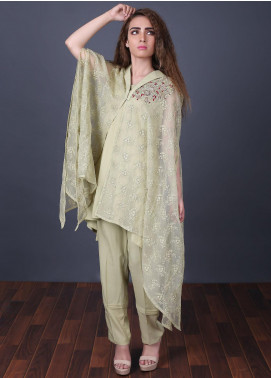 Zoonaj Embroidered Zari Net Stitched 2 Piece Suit Light Green ZF 161