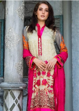 ZUNUJ Embroidered Lawn Unstitched 3 Piece Suit ZJ19F 02 - Festive Collection