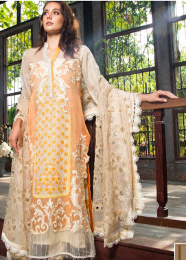 ZUNUJ Embroidered Lawn Unstitched 3 Piece Suit ZJ19F 05 - Festive Collection
