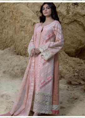 ZUNUJ Embroidered Lawn Unstitched 3 Piece Suit ZJ20S 1 - Spring / Summer Collection