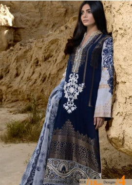 ZUNUJ Embroidered Lawn Unstitched 3 Piece Suit ZJ20S 4 - Spring / Summer Collection