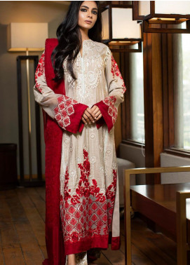 ZUNUJ Embroidered Chikankari Unstitched 3 Piece Suit ZJ19CK 4 - Luxury Collection