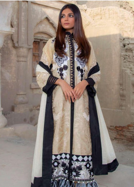 Montage By ZUNUJ Embroidered Cotton Unstitched 3 Piece Suit ZJ21M 01 - Luxury Collection