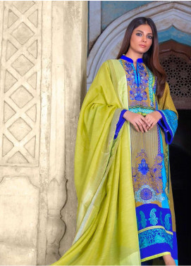 Montage By ZUNUJ Embroidered Cotton Unstitched 3 Piece Suit ZJ21M 03 - Luxury Collection