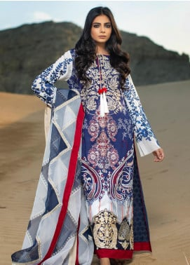 ZUNUJ Embroidered Cotton Net Unstitched 3 Piece Suit ZJ19W 3 - Winter Collection