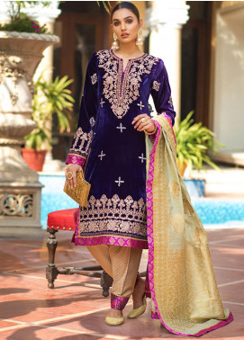 Zurich by ZS Textiles Embroidered Velvet Unstitched 3 Piece Suit ZS20Z 01 - Winter Collection