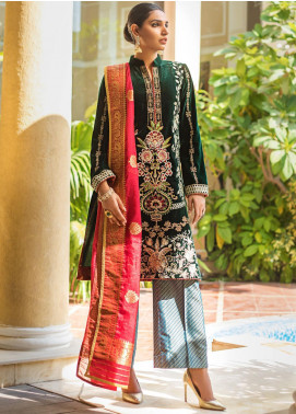 Zurich by ZS Textiles Embroidered Velvet Unstitched 3 Piece Suit ZS20Z 04 - Winter Collection