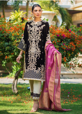 Zurich by ZS Textiles Embroidered Velvet Unstitched 3 Piece Suit ZS20Z 05 - Winter Collection
