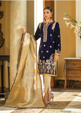 Zurich by ZS Textiles Embroidered Velvet Unstitched 3 Piece Suit ZS20Z 07 - Winter Collection