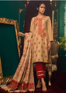 Zurr Kamalia by AB Textiles Embroidered Khaddar Unstitched 3 Piece Suit AB20ZK 04 Roha - Winter Collection