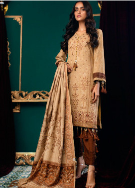 Zurr Kamalia by AB Textiles Embroidered Khaddar Unstitched 3 Piece Suit AB20ZK 06 Marron - Winter Collection