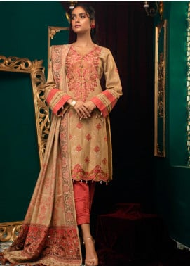 Zurr Kamalia by AB Textiles Embroidered Khaddar Unstitched 3 Piece Suit AB20ZK 07 Rosado - Winter Collection