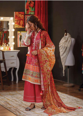 Zyra by Tarzz Embroidered Lawn Unstitched 3 Piece Suit ZYT19S 14B CAMELLIA - Mid Summer Collection