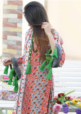 Zyra by Tarzz Printed Lawn Unstitched Kurties TRZ20Z L20-S2-42 - Spring / Summer Collection