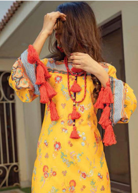 Zyra by Tarzz Printed Lawn Unstitched Kurties TRZ20Z L20-S2-45 - Spring / Summer Collection