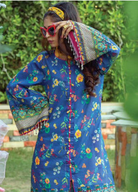 Zyra by Tarzz Printed Lawn Unstitched Kurties TRZ20Z L20-S2-46 - Spring / Summer Collection