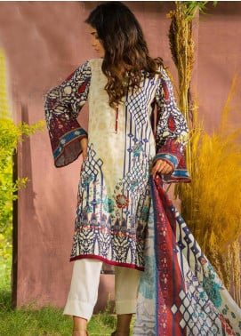 Tarzz Printed Khaddar Unstitched 3 Piece Suit ZYT19W 01 Italian Plum - Winter Collection