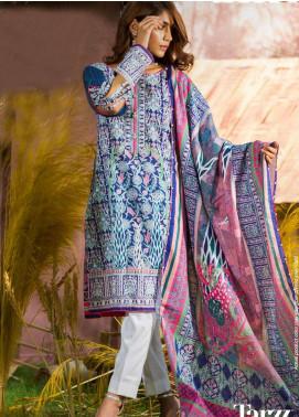 Tarzz Printed Khaddar Unstitched 3 Piece Suit ZYT19W 03 Plum Wine - Winter Collection