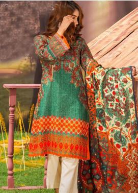Tarzz Printed Khaddar Unstitched 3 Piece Suit ZYT19W 04 Arabian Nights - Winter Collection