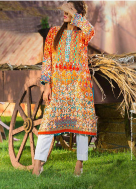 Tarzz Printed Khaddar Winter Collection 05 Madder Brown 2019