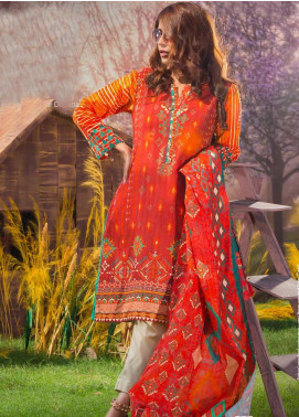 Tarzz Printed Khaddar Unstitched 2 Piece Suit ZYT19W 06 Pepprica - Winter Collection