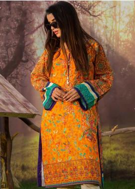 Tarzz Printed Khaddar Winter Collection 09 Autumn Glory 2019