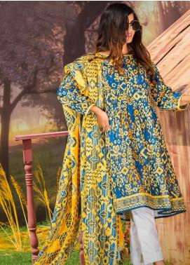Tarzz Printed Khaddar Unstitched 2 Piece Suit ZYT19W 10 Lemon Zest - Winter Collection