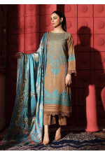 Naranji by Charizma Embroidered Leather Unstitched 3 Piece Suit CRZ20NL 11 Mystic Iris - Winter Collection