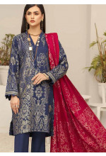 Shahnameh by Riaz Arts Broschia Banarsi Linen Unstitched 3 Piece Suit RA20-SN2 16 - Winter Collection