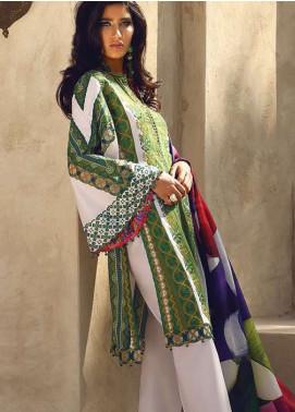 Faraz Manan Embroidered Lawn Silk Suits Collection 2020 Faraz Manan Luxury 2020 Range Online Sanaulla Store