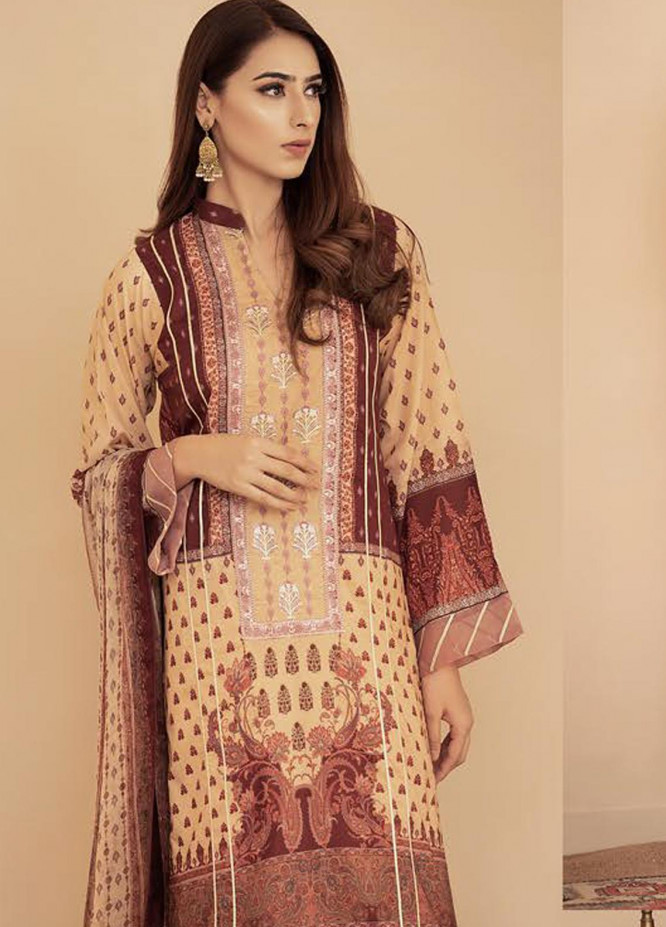 Aabyaan Embroidered Lawn Unstitched 3 Piece Suit AB20FL 05 Anaya - Summer Collection