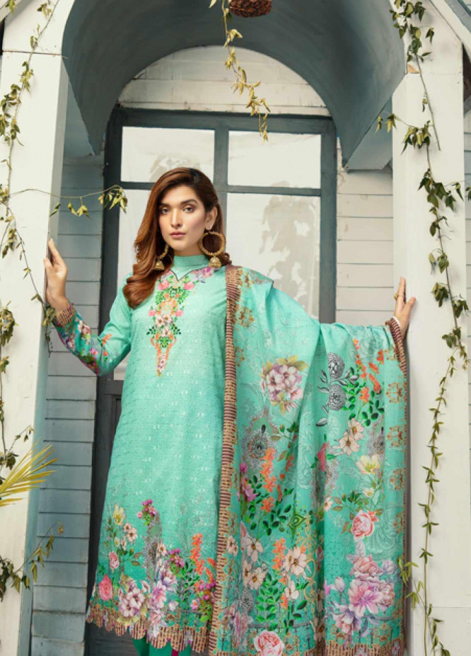 Riaz Arts Embroidered Lawn Unstitched 3 Piece Suit ARA20-L4 42 - Summer Collection