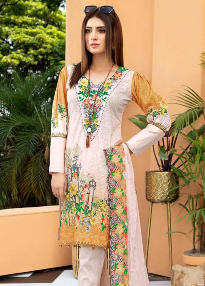 Aafreen by Riaz Arts Embroidered Lawn Unstitched 3 Piece Suit RA20A  AE 02 - Spring / Summer Collection